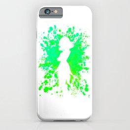 Anime Hero Paint Splatter Inspired Shirt iPhone Case