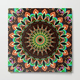 Mandala India Style 3 Metal Print
