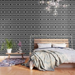 B&W Watercolor Ikat Wallpaper