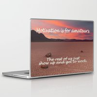 motivation Laptop & iPad Skins featuring Motivation is for Amateurs - - by Brown Eyed Lady