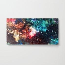 Galaxy Watercolor Metal Print