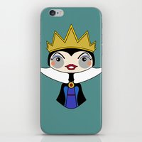 evil queen iPhone & iPod Skins featuring evil queen by guizmo04