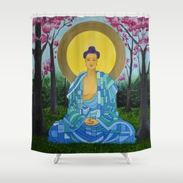 Meditation in bloom Shower Curtain