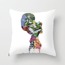 Graffiti Cinderella Throw Pillow