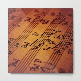 MUSIC NOTE PAPER 281 Metal Print
