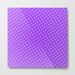 Pastel Goth Pastel Purple Retro Polka Dot (White) Metal Print