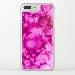 Abstract Bubblegum Pink Clear iPhone Case