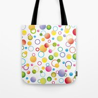 circles Tote Bags featuring Circles by victimArte