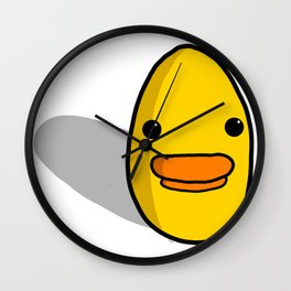 Egg Duck/ Duck Egg | Veronica Nagorny Wall Clock