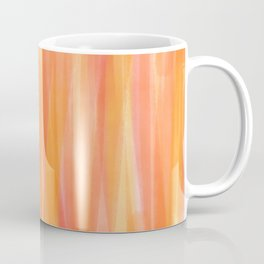 Sunset Red Orange and Yellow Watercolor Coffee Mug