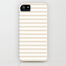 Almond Baby Camel Mattress Ticking Wide Striped Pattern - Fall Fashion 2018 iPhone Case