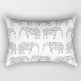 Alabama bama crimson tide elephant state college university pattern footabll Rectangular Pillow