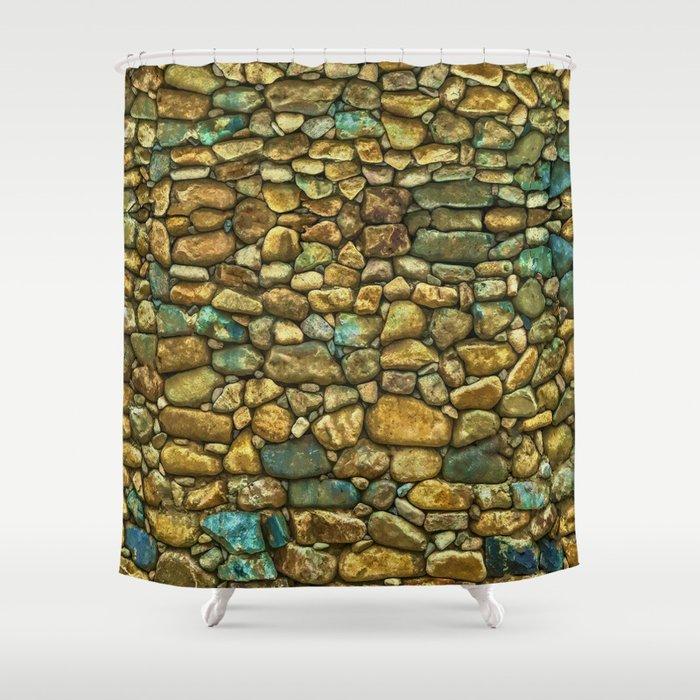 Natural Rock Wall Art Design Shower Curtain By Skyeryanevans