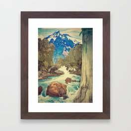 The Walk to Hokodoyama Framed Art Print
