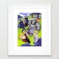 fullmetal alchemist Framed Art Prints featuring Fullmetal Alchemist by thehollyfox