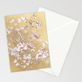 Chinoiserie Gold Stationery Cards