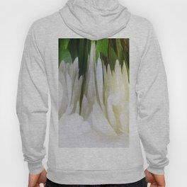 501 - White Peony Abstract Hoody