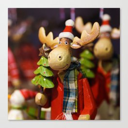 Christmas ornament Santa Claus Moose Canvas Print