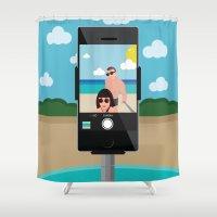 selfie Shower Curtains featuring Selfie? by Chiara Belmonte
