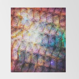 Cosmic Owls Throw Blanket