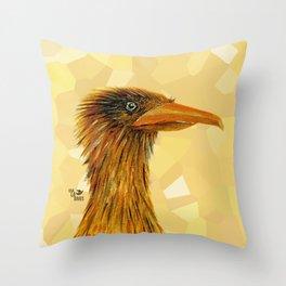 The Smug Crane Throw Pillow