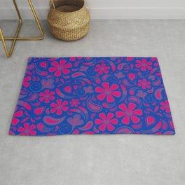 Bisexual Pride Floral Paisley Pattern Rug
