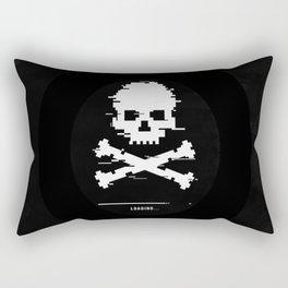 Game over 8bit loading glitch Rectangular Pillow