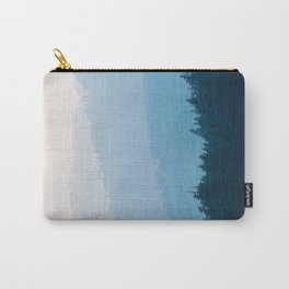 Parallax Mountain Hills Blue Hues Minimal Modern Landscape Photo Carry-All Pouch