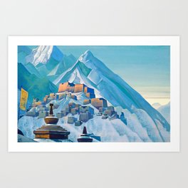 Nicholas Roerich - Tibet Himalayas - Digital Remastered Edition Art Print