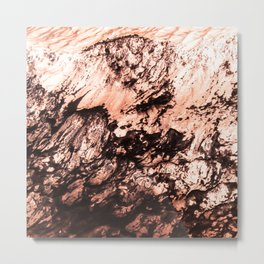 Copper Lava Metal Print