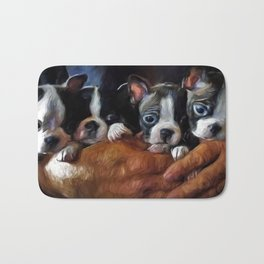 Safe In The Arms Of Love - Puppy Art Bath Mat