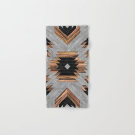 Urban Tribal Pattern No.6 - Aztec - Concrete and Wood Hand & Bath Towel