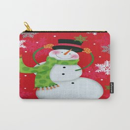Happy Snowman Carry-All Pouch