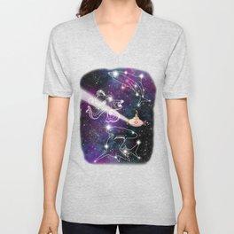 Exploring The Star Fish Constellations Unisex V-Neck