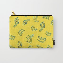 3D Bananas PatternYellow Carry-All Pouch