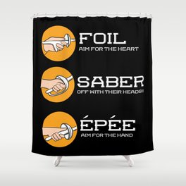 Foil Saber Epee | Fencing Shower Curtain