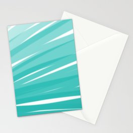Bahama Blue Line Art, Variable Opacity Color Study - 3 Stationery Cards