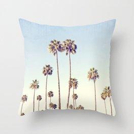 Cali Palms Throw Pillow