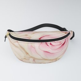 Pretty Pink White Roses Fanny Pack