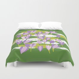 First crocus Duvet Cover