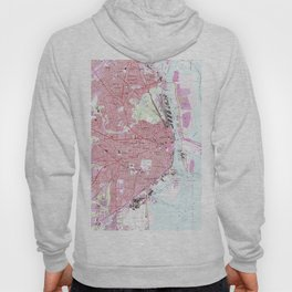 Vintage Map of Mobile Alabama (1953) Hoody
