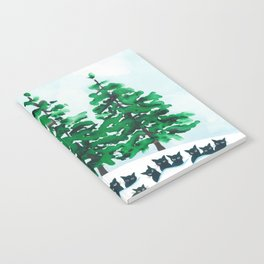 Veneto Whimsical Cats and Trees Notebook