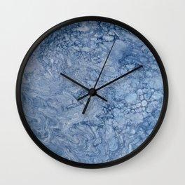 waves | fluid acrylics Wall Clock