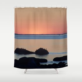 Peaceful Sunset Ship and Sea Shower Curtain