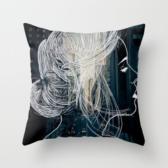 The woman who never sleep Throw Pillow