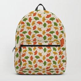 Fall ginkgo biloba leaves pattern Backpack