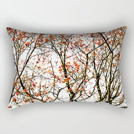 Red rowan fruits or ash berries Rectangular Pillow