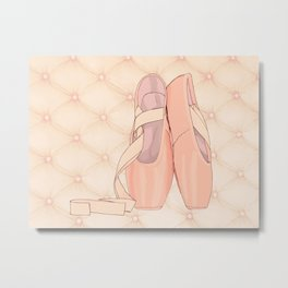 Ballet shoes s drawing Metal Print