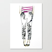 geo Canvas Prints featuring Geo by Yaz Raja Designs