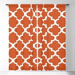 Arabesque Architecture Pattern In Burned Orange Blackout Curtain